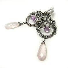 Long wire wrap earring wirework earring  by MadeBySunflower, $135.00