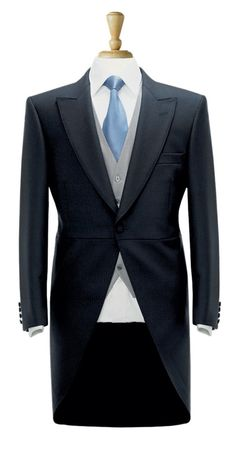 This classic pure new wool Morning Suit Jacket creates an impressive look for any wedding or special event when teamed up with our grey Morning Suit Waistcoat (BR-1700 and striped Morning Suit Trouser (BR-8022).  avana-collection.com