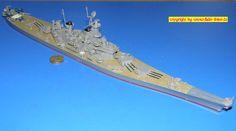 """amerik. Schlachtschiff der IOWA-Klasse BB-61 """"Iowa"""" (Fujimi 44115) 1:700"""