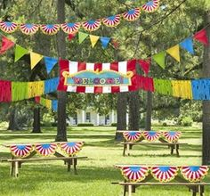 Carnival Theme Outdoor Decorations- For Summer Kick Off Party