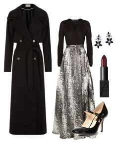 """""""Elegance for the Holidays!"""" by kotnourka ❤ liked on Polyvore featuring Temperley London, Diane Von Furstenberg, Dorothy Perkins, NARS Cosmetics and Lafonn"""