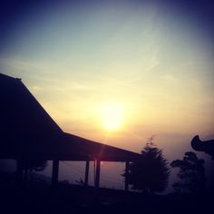 Sunset from mount Lawu