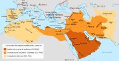 CALIFATO OMEYA: Los Omeyas eran un clan de la tribu quraysh, de La Meca, a la que pertenecía Mahoma.  El califa omeya, Marwan II, huyó a Egipto y Abu l-Abbas se convirtió en califa, inaugurando así el califato abasí. Todos los omeyas fueron asesinados; incluso se sacó a los muertos omeyas de sus tumbas, para borrar de este modo los rastros de la familia. Sólo uno logró escapar a la matanza, y con el tiempo reaparecerá en el otro extremo del mundo islámico, en Al-Ándalus.