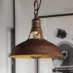 Industrial Rust 1-Lt Barn Pendant in Wrought Iron for Warehouse Farmhouse Rustic Pendant Lighting, Rustic Chandelier, Industrial Lighting, Pendant Lights, Lighting Warehouse, Garage Lighting, Lighting Uk, Vintage Lighting, Led Recessed Ceiling Lights