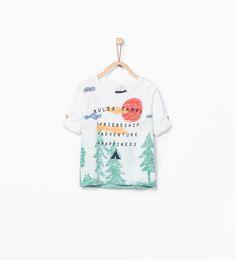 "Imagen 1 de Camiseta estampado "" Rules Camp"" de Zara"