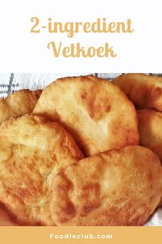 Delicious golden brown and chewy. These quick and easy vetkoek are unbelievable. They taste just like the original version made with yeast, but these are mixed in just 5 minutes, with no kneading or rising time required. Just mix and fry for the tastiest, chewiest vetkoek ever - you won't believe how quick and easy these are to make! #foodleclub #homemade #vetkoek #instantvetkoet #realvetkoek #easyvetkoek #2ingredientvetkoek. South African Recipes, Cookery Books, Original Version, Dough Recipe, 2 Ingredients, Golden Brown, Recipe Using, Breads, Easy Meals