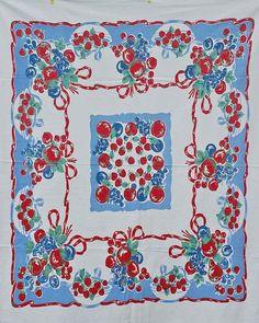 vintage tablecloth | via fashionable fruit ~ Cityhaüs Design