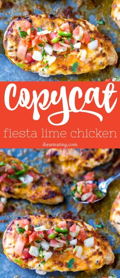 Fiesta Lime Chicken - I Heart Eating Applebee's Fiesta Lime Chicken Recipe, Lime Chicken Tacos, Honey Lime Chicken, Grilled Chicken Recipes, Fiesta Chicken, Applebees Recipes, Copycat Recipes, Grilling Recipes, Cooking Recipes
