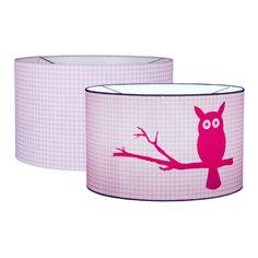 Little Dutch Silhouetten-Hängelampe Eule Vichykaro rosa Ø 30cm bei Fantasyroom online kaufen