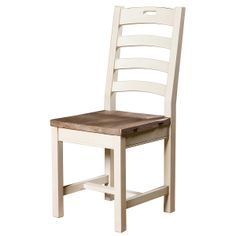 """Cornwall Ladder Back Dining Chair   Cornwall Ladder Back Dining Chair  Reclaimed Pine  21"""" W x 17"""" D x 40"""" H  Finish/Color(s): Sundried Ash/Stucco White"""