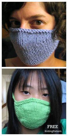 10 Knit Face Mask Free Knitting Patterns and Paid - Knitting Pattern Knitting Stitches, Knitting Patterns Free, Free Knitting, Baby Knitting, Free Pattern, Knitting Machine, Vintage Knitting, Stitch Patterns, Crochet Mask