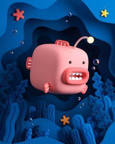 CUBE PLANET THINGS 02 on Behance Simple Character, 3d Model Character, Game Character Design, Character Design Animation, Character Concept, Game Design, Design Art, Blender 3d, Character Illustration