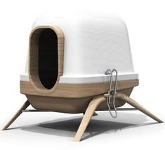 Kinda' cool. A contemporary dog/cat bed from a French design agency called Bloom Room. http://www.bloomroomstudio.com/#/portfolio   These pieces of furniture are from their Chimère line. Designed by Marc Anger.