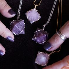 Gemstone Pyramid Pendants for wearing crystal magic. These pendants will focus�