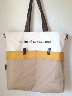Reversible 帆布トートバッグ素材:帆布、ヌメ革Size:深さ×幅×マチ=約39×38×8cmショルダ... ハンドメイド、手作り、手仕事品の通販・販売・購入ならCreema。