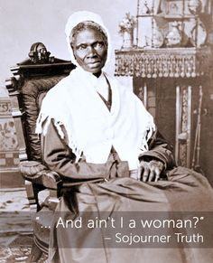 Sojourner Truth was an African-American abolitionist and women's rights activist. Truth was born into slavery in Swartekill, Ulster County, New York, but escaped with her infant daughter to freedom in Sojourner truth American Women, African American History, American Dolls, American Life, Native American, Kings & Queens, Yoga Bewegungen, Famous Speeches, Yoga Kurse