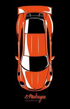 Toyota Supra Top View >> Supra Top View Iphone Case By Olegmarkaryan Toyota Supra