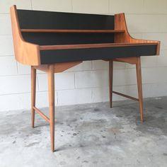 "Mid Century Modern ""Ola"" teak desk by Blindheim Møbelfabrikk - Danish Modern"