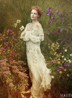 Jessica Chastain by Annie Leibovitz for Vogue 2013