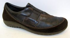 NAOT Women's 'Otago' Brown Leather Slip On Loafer Size 41/US 10-10.5 #Naot #LoafersMoccasins