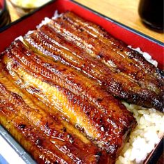 """Another staple of course is """"Unagi Kabayaki"""", eel glazed in a teriyaki like sweetened soy-based sauce, then grilled and caramelized over a charcoal fire."""