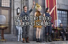 Because of Reading...we do the three fingered salute.