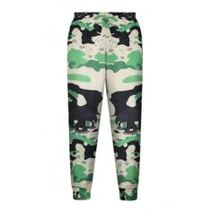 High Waist Camouflage Print Elastic Waist Pants ($17) ❤ liked on Polyvore featuring pants