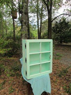 Vintage Window Curio Cabinet. $150.00, via Etsy.