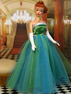 The Couture Touch: Queen of the Prom - One of my favorite outfits!  Blue and green - my choice if you can't go grey!