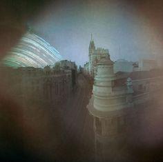Solarigrafía de Invierno en Gran Vía. Madrid by Solarigrafía / Diego López Calvín,   Winter solargraphy at Gran Via. Madrid  via Flickr  #solarigrafia #solargraphy #pinholephotography #fotografiaestenopeica #pinhole #estenopeica #longexposure #largaexposicion #madrid #visualart #solargraph #granvia