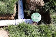 Move water away from the foundation of your home by installing underground drainage for a gutter. #twofeetfirst Underground Gutter Drainage, Drainage Pipe, Drain Pipes, Drain Away, French Drain, The Other Side, Home Improvement Projects, Yard Landscaping, Backyard