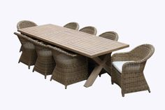United House Furniture - Tahitian Solid Teak 3m Outdoor Table - With Wing Back Rattan Chairs, $3,499.00 (http://www.unitedoutdoorfurniture.com.au/new-arrivals/tahitian-solid-teak-3m-outdoor-table-with-wing-back-rattan-chairs/)