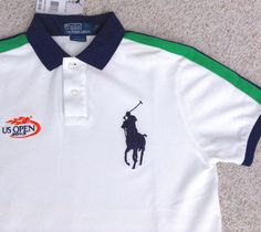 Ralph Lauren Polo Classic Big Pony White Darkblue Rugby