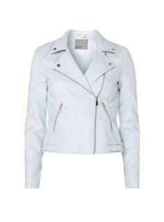 Womens **Vero Moda Blue PU Biker Jacket- Blue
