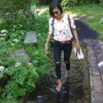Barfusspark Hallwangen - kurze Fußerfrischung auf dem Weg