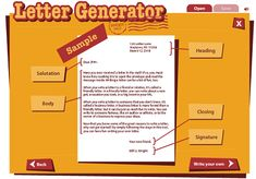 """This is an image from this resource on the Internet4Classrooms' """"Fourth Grade Language Skill Builders - Capitalization and Punctuation"""" resource page:    Write Your Own Friendly or Business Letter.    Practice writing the different parts of a letter using the correct capitalization and punctuation. (Requires Flash Player)"""