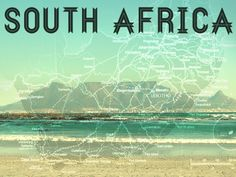 South Africa Postcard by susannah brinkley South Africa, Postcards, Things I Want, To Go, My Love, Beach, Water, Places, Outdoor
