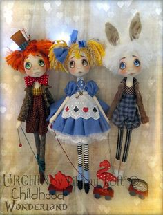 Master Hatter, Miss Alice  Rabbit...Urchin by Lilliput Loft