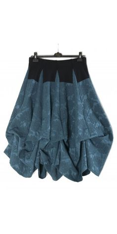 She's Crazy Teal Floral Tier Skirt