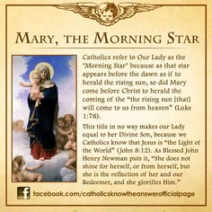 Mary, The Morning Star