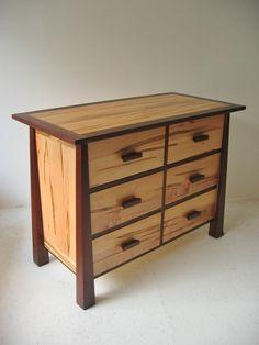 walnut, ambrosia maple. Tibet Dresser | Futon Designs