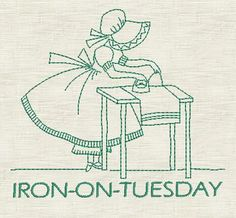 Sunbonnet Sue Days Of the Week - Machine Embroidery Designs