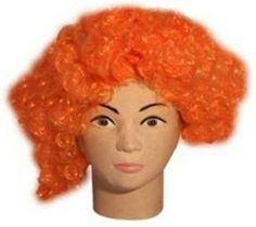 Satyam Kraft Party Wig Orange Color