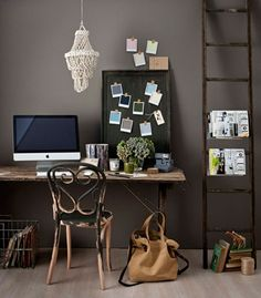 An eclectic office