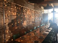 Festoon Backdrop #festoon #lighting #wedding #backdrop #pretty #reception & Festoon lighting canopy as an alternative to fairy lights Monks ...