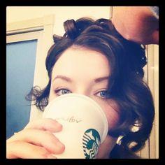"SARAH  BOLGER  as  PRINCESS  AURORA on set of ""Once Upon A Time."""