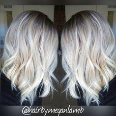 White blonde #platinum #blonde #whiteblonde