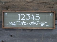 Custom and Personalized Address Sign, Wood Sign, Outdoor, Country Decor, Shabby Chic, Cottage, Rustic, Stenciled, House Number Sign, Signage...