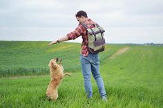 Canvas Backpack unisex backpack laptop backpack by MensWorldBT