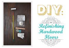 D.I.Y refinishing hardwood floors in 10 steps.